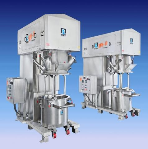Ross 40-gallon Double Planetary Mixers are designed for high-precision formulations.