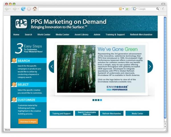 PPG Marketing on Demand is a new online tool for distributors and collision repair facilities.