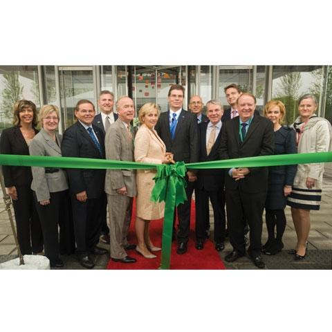 Cutting the ribbon at BASF