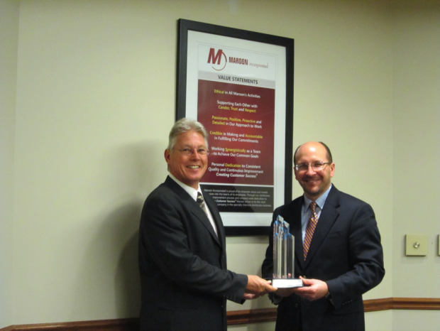 Maroon awarded Distributor of the Year for 2012