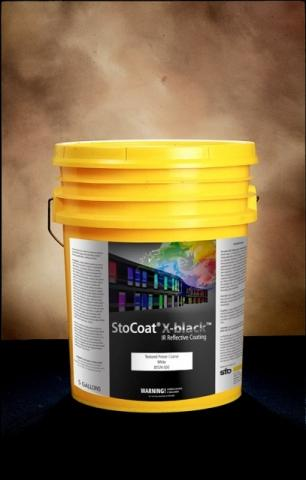 StoCoat X-black, a new heat reflective exterior wall coating from Sto Corp