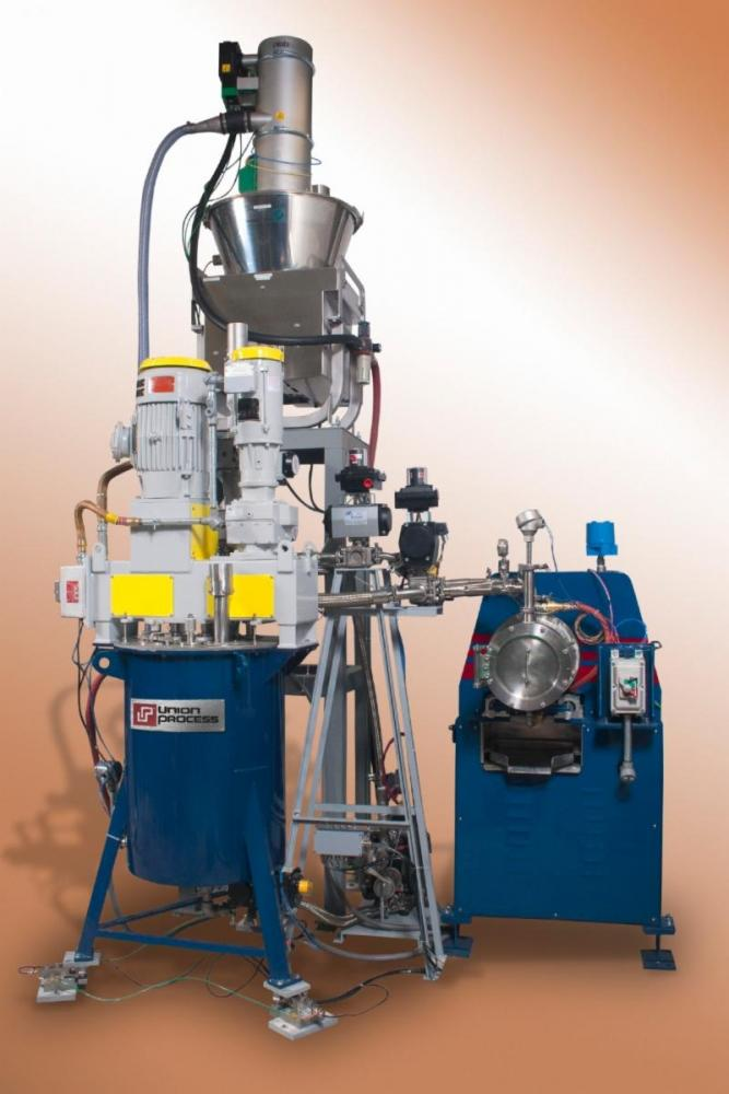 PLC-controlled milling system for processing silicon.