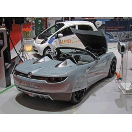 Lampo electric sports car coated with eco-friendly Glasurit paints