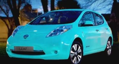Nissan Debuts Glow-in-the-Dark LEAF in Europe
