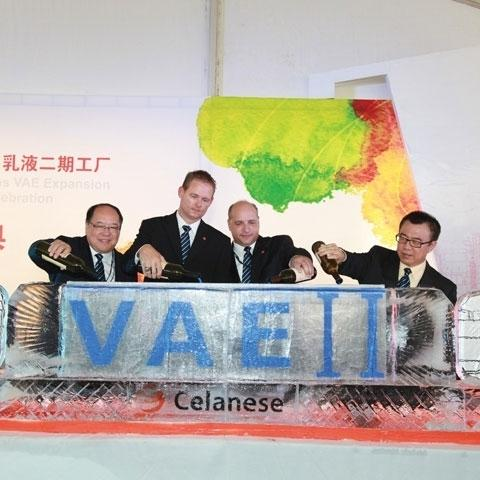 Phil McDivitt, center right, at Nanjing opening.