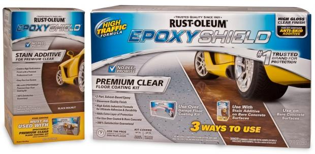 Rust-Oleum Introduces EpoxyShield Stain Additive for Premium Clear Floor Coating Kit