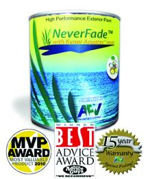 NeverFade Exterior Paint Receives MVP Award